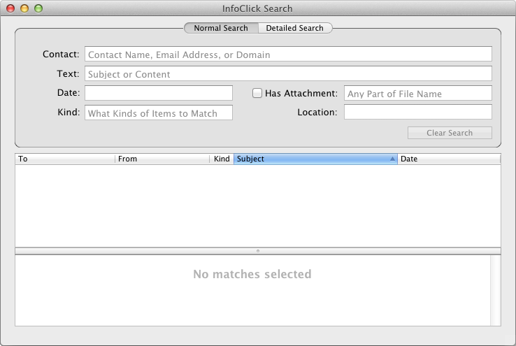 Nisus InfoClick - Uniquely Powerful Search for Apple Mail